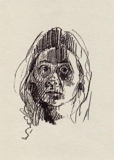 Selvportrett 1, tegning
